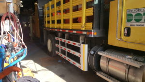 Side Guards on New York DOT's truck-Flat bad truck
