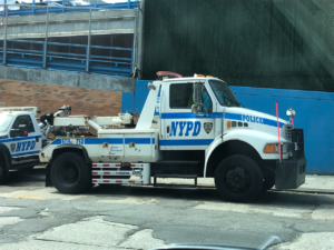 Side Guards on New York Police Dept's truck- Service Truck